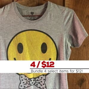 Smiley Bow Tie Tee